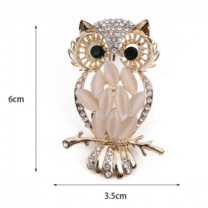 Owl Brooch Cute Animal Brooch Fashi..