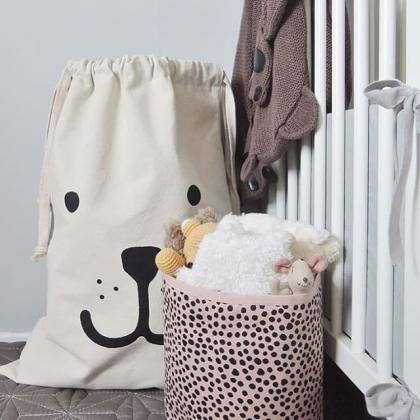 Cartoon Bear Cotton Oversized Stora..