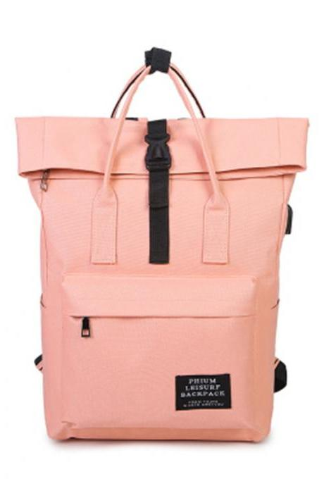 Fashion Canvas Backpack High Capacity Student Bag Casual Handbag Travel Backpack