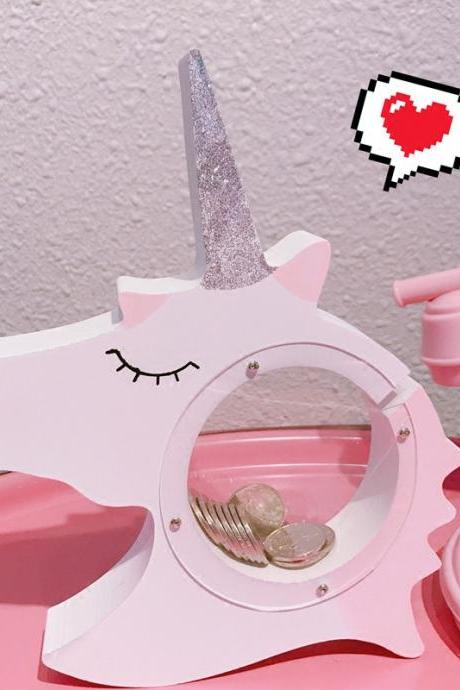 Fashion Unicorn Sequins Piggy Bank Creative Home Decoration Cute Cartoon Piggy Bank