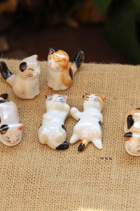Cute Cat Ceramics Chopsticks Care Creative Home Decorations Animal Ornament Chopsticks Shelf