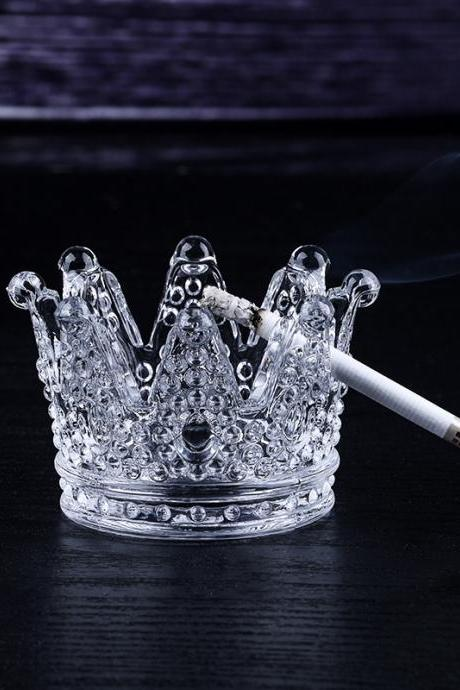 Crystal Crown Ashtray Creative Home Decoration Fashion Candlestick