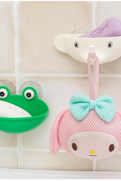 Cartoon Drain Frog Soap Box Creative Cute Elephant Sucker Soap Holder