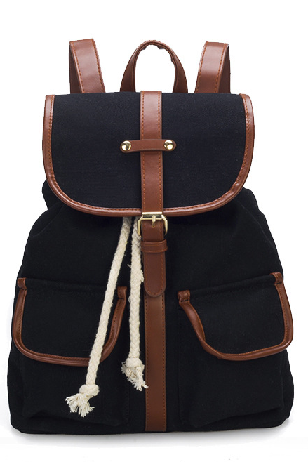 Retro Canvas School and Travel Backpack