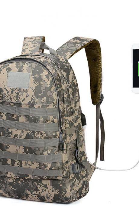 PUBG Camo Backpacks USB Charging Backpack Waterproof Outdoor Backpack High Capacity Computer Backpack School Backpack