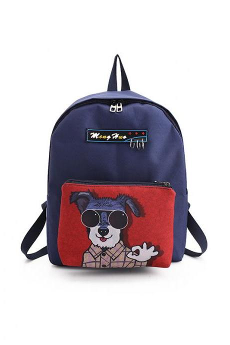Cute Dogs Printing Backpack Removable Cartoon Student Shoulder Bags Fashion High Capacity Personality School Backpack
