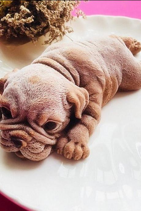 Cute SharPei Cake Decoration Dog Silicone Mold 3D Cartoon Animal Chocolate DIY Mold Ice Cream Baking Tools