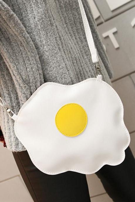Poached Eggs Fried Egg Funny Creative Phone Package Cute Shoulder Bag