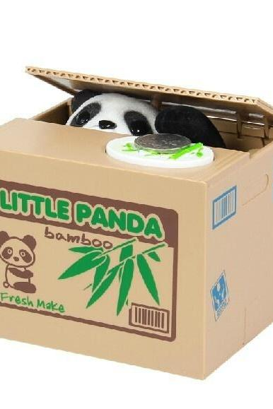 Funny Saving Box Toy Panda Paw Take Coin Into The Box Creative Coin Cox Funny Toy Piggy Bank Panda Toy
