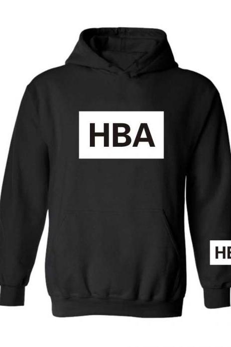 Unisex HOOD BY AIR HBA Men and Women Couple Thickening Hooded Sweatshirts