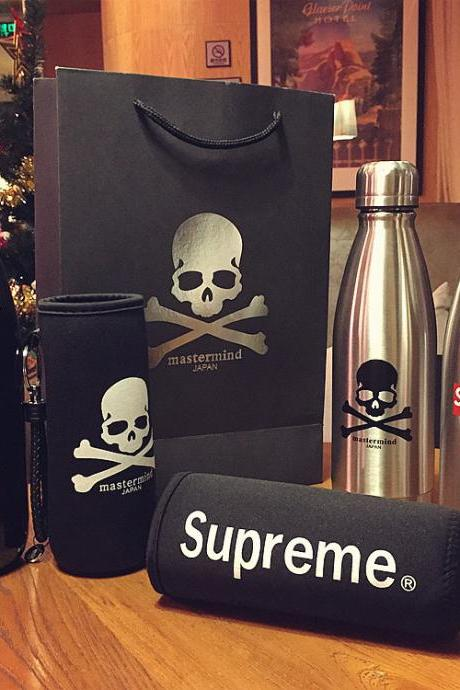 Supreme Stainless Steel Creative Bowling Cup MMJ Skull Personality Car Cap Student Insulation Cup
