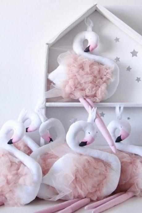 Lovely Handmade Animal Swan Doll Baby Room Children's Room Home Decoration