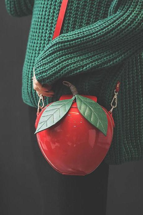 Lovely Apple Package Shoulder Bags