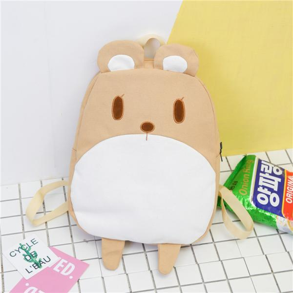 Cute Cartoon Canvas Backpack Fashion Animal Children's Backpack Personality School Backpack