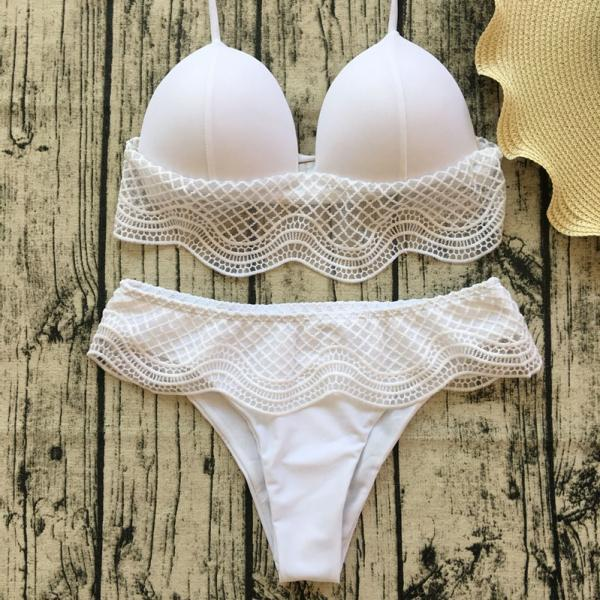 Women Lace Bikini Sexy Halter Swimsuit Fashion Swimwear