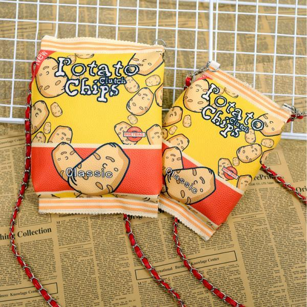 Potato Chips Chain Bag Printing Shoulder Bag Cute Packet Coin Purse